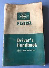 BMC Riley Kestrel Mk 2 & 1300 Original Drivers Handbook 1965 Pub. No. AKD 4289C