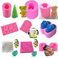3D Silicone Fondant Mold Cake Chocolate Sugarcraft  Soap Gifts Baking Mould Tool