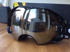 Oakley Airbrake Snow Jet Black / Black Iridium & Persimmon Ski Goggle Skibrille
