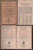 Volapuk-Dizionario Italiano Volapuk-C.Mattei-Hoepli Editore-1890-Nomencl.Chimica