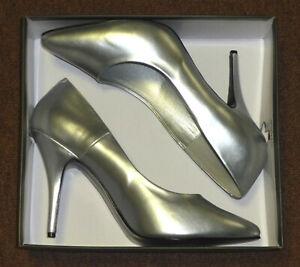 "Pleaser Seduce-420 5"" High Heel Pumps Shoes Silver Faux Leather 14"