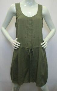 *NWT* MADEWELL BROADWAY & BROOME Army Green Sleeveless Silk Romper w/Pockets - L