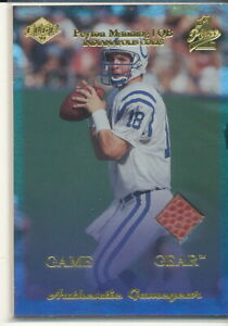 1999 Collector's Edge First Place Peyton Manning Game Gear Football