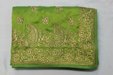Indian Traditional Silk Saree Bollywood Embroidered Sari Bridal Party Wear Dress