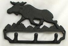 Cast Iron Moose Wall Hook Cabin Lodge Decor