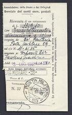POSTA MILITARE 1941 Ricevuta Versamento da PM 59 (EB)