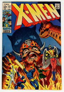 X-MEN #51 (Marvel 1968) FN/VF condition STERANKO art! NO RES!