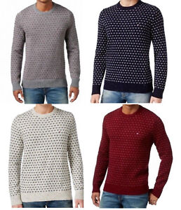 Tommy Hilfiger New Men's Geometric Crew-Neck Pullover Sweater