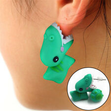 Cute Cartoon 3D Dinosaur Animal Earrings Polymer Clay Ear Stud Jewelry Gift New