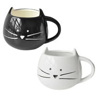 Coffee Cup White Cat Animal Milk Cup Ceramic Lovers Mug Cute Birthday gift, P2Z9