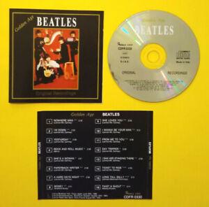 CD THE BEATLES Golden Age Original Recordings Italy 1992 live rock no lp mc 45