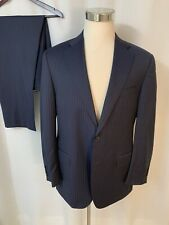 Beautiful Current Canali 1934 Wool Navy Pinstripe Blue Suit Men's 42R 36x30