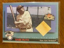 2002 Fleer Fall Classics BABE RUTH Game Used Bat Relic Card