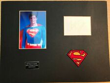 CHRISTOPHER REEVE  AMERICAN ACTOR SUPERMAN  HAND SIGNED DISPLAY  VERY RARE ITEM