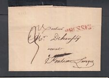 BELGIUM 1822 STAMPLESS FOLDED LETTER BRUSSELS TO FONTAINE L'EVEQUE