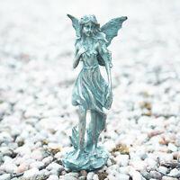Bronze Effect Resin Fairy Statue Garden Ornament Figurine Outdoor Indoor Angel