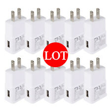 Lot USB Power Adapter AC Home Wall Charger US Plug For Samsung Galaxy Phones