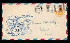HAWAII 1934 FIRST FLIGHT AIRMAIL USA STATIONERY 6c