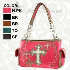 Montana West Leather Spiritual Style Multi Cross Shoulder Bag Purse FB-8085