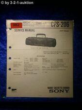Sony Service Manual CFS 206 Cassette Recorder (#0382)