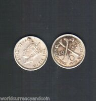 SOUTHERN RHODESIA 6 PENCE 1932 or 1944 or 1950 or 1951 or 1952 KING ZAMBIA COIN