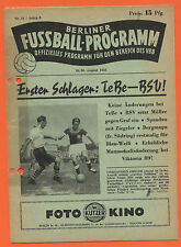 Orig. PRG 29.08.1953 Berlin contract League-All games, brackets, etc.