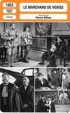 FICHE CINEMA : LE MARCHAND DE VENISE - Simon,Debar 1953 The Merchant of Venice