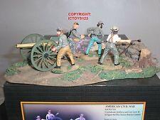 CONTE ACW57119 CONFEDERATE ARTILLERY GUN + CREW METAL TOY SOLDIER FIGURE SET 1