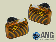 ROVER SD1, MINI, LR DEFENDER, DISCO,METRO SIDE INDICATOR AMBER LENSES x 2