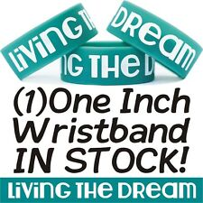 Living The Dream Wristband One Inch Wide Bracelet New Livin' a Dream Merchandise