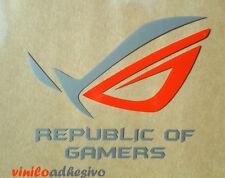 PEGATINA STICKER VINILO Republic of Gamers ROC Asus 2 colores aufkleber