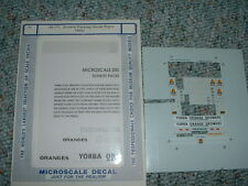 Microscale N  decals  Sunkist Packing House Signs RR