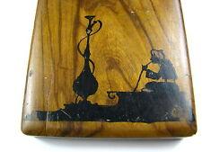 OLIVEWOOD OLIVE WOOD CIGARETTE CASE BOX Hookah Smoker Middle East Palestine 1920
