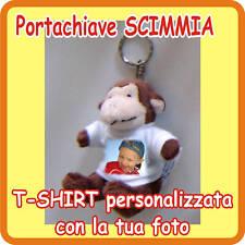 """PORTACHIAVI """"SCIMMIA"""" PERSONALIZZATO CON LA TUA FOTO!"""