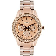 Fossil Women's ES3003 Stella Multi-Function Rose Gold-Tone Stainless Steel Watch