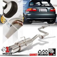 "Stainless Steel Catback Exhaust System 4.5"" Muffler Tip for 92-95 Honda Civic HB"