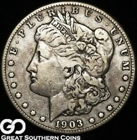 1903-S Morgan Silver Dollar Silver Coin, Tough Choice VF Better Date