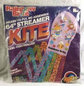 "Vintage 1985 NOS Rainbow Brite 64"" Spectra Star Streamer Kite SEALED B000"