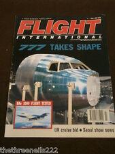 FLIGHT INTERNATIONAL # 4325 - 777 TAKES SHAPE - JULY 1 1992