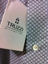Truzzi Milano Italian master luxury beautiful shirt 17.5/44 XL NWT$450 Luckysale