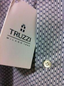 Truzzi Milano Italian WorldClass luxury beautiful shirt 17.5/44 XL NWT$450