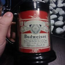 Vintage Plastic Budweiser Mug Cup Made in the USA in Passaic New Jersey