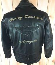 Harley Davidson LARGE Leather Jacket 97089-04VM ROAD WARRIOR V Twin Embossed