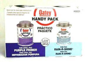 NWT Oatey Handy Pack #30231 Medium Blue PVC Cement Purple Primer 8 Fl. Oz