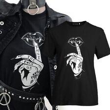 Finger Print Gothic Punk T Shirt Women Hip Hop Top Tees Make Me Crazy UK vTYL