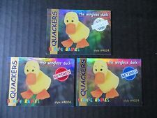 Ty Beanie Babies Bboc Series I S1 ~ Red Blue Silver Retired Card 18 Quackers