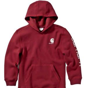 Carhartt Kids Fleece Hooded Sweatshirt Big Boys Large (Size 14-16) CA6125