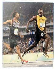 USAIN BOLT Original Signed Autographed 11X14 OLYMPICS Photo COA Authentic 07