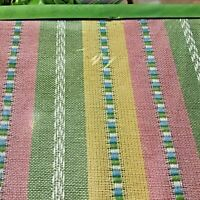 "Woven Fabric Tablecloth Cotton Blend Oblong 60"" x 102"" GARDEN STRIPE - Fabulous!"