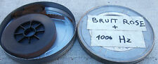 FILM CINE 16 MM  BOBINE TESTS POUR PROJECTEUR BRUIT ROSE + 1000 HZ